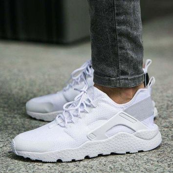 NIKE AIR HUARACHE Women Fashion Running Sports Shoes White