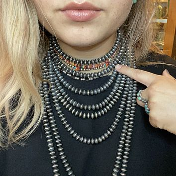 16 inch 9mm Saucer Genuine Navajo Pearl Necklace