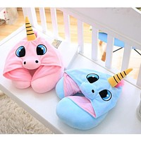 Unicorn Hooded Travel Pillow