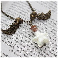 Magic Star Dust Glow in the Dark Glass Vial Bottle Necklace. Wish upon a star!