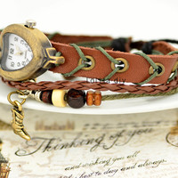 High-heeled shoes pendant antique watches, leather women watch - bracelet with high quality fashion table