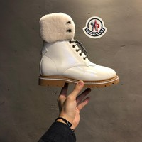 Cheap Women's and men's Moncler Australian wool warm snow boots