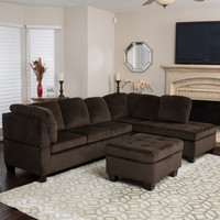 Home Loft Concepts Evan Sectional with Ottoman