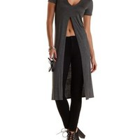 Deep V High-Low Maxi Tee by Charlotte Russe