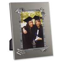 Brushed Metal Photo Frame - Engravable Personalized Perfect Graduation Gift