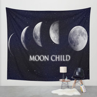 Moon Child Wall Tapestry by DuckyB (Brandi)