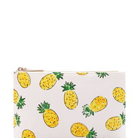 Pineapple Print Makeup Bag
