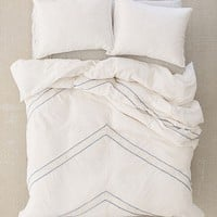 Lucia Crochet Trim Duvet Cover | Urban Outfitters
