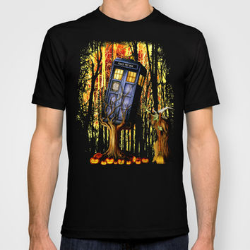 Halloween Tardis doctor who captured by witch Made in USA Short sleeves tee tshirt