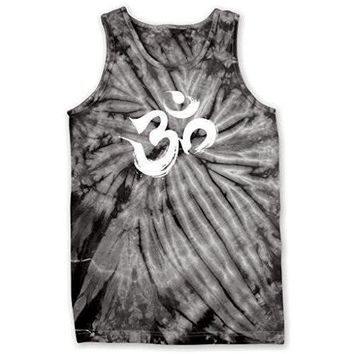 Mens Brushstroke AUM Tie Dye Tank Top