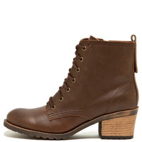 Taupe Lace Up Bootie