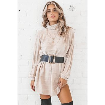 SADIE & SAGE Turtleneck Sweater Dress