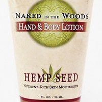 Earthly Body Hemp Seed Lotion - Naked in the Woods -- 1 oz. unisex mens hippie