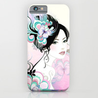FLOWER GIRL - for iphone iPhone & iPod Case by Simone Morana Cyla