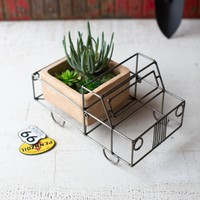 Wire & Clay Truck Planter