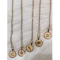 Medallion Zodiac Necklace