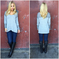 Storm Knit Sweater Top - GREY