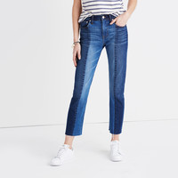 Cruiser Straight Crop Jeans: Two-Tone Edition : | Madewell