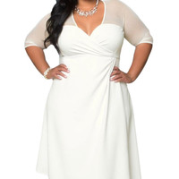 White or Black Plus Size Sugar and Spice Dress