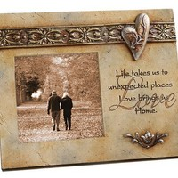 Foundations of Faith, Love Frame with Heart and Verse, 4 by 4-Inch