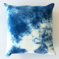 Rabbit and Dragon — Cloud Shibori Pillow