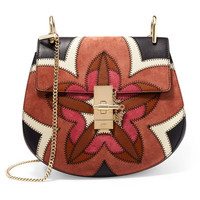 Chloé - EXCLUSIVE Drew mini leather and suede shoulder bag
