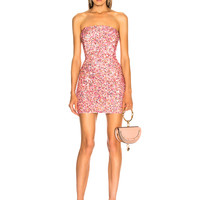 retrofete for FWRD Heather Dress in Peach Multi | FWRD