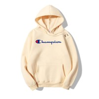Champion Long-Sleeved Letters Hooded Sweater