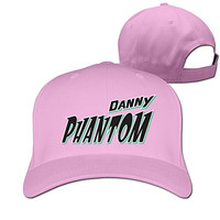 Unisex Danny Phantom Logo Adjustable Snapback Trucker Hat 100%cotton Pink One Size