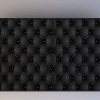 Black Tufted Cushion - Photography Backdrop