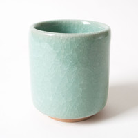 Tea Cup Celadon Crackle