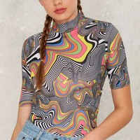 Jaded London Rainbow Swirl Bodysuit