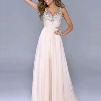 Pink Deep V Neck Tube Gown Dress Backless Sequined Straps Maxi Evening Chiffon Dress Open Back
