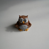 Little owl fondant cake topper