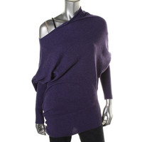 Wyatt Womens Cashmere Dolman Sleeves Pullover Sweater