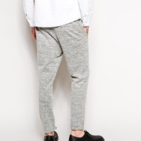 ASOS Skinny Fit Smart Cuffed Trouser In Wool Mix