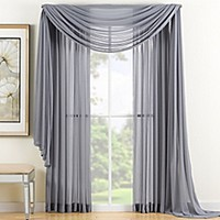 Reverie Sheer Window Panel and Scarf Valance