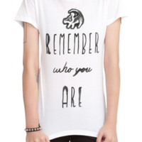 Disney The Lion King Remember Who You Are Girls T-Shirt 2XL