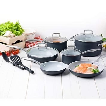 12 Piece GreenLife Classic Pro Hard Anodized Cookware Set