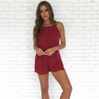 Most Wanted Romper In Burgundy