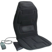 10-Motor Massage Seat Cushion with Heat Black Car Heated Support Pad Massager