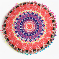 43*43CM Round Indian Mandala Floor Pillows Round Bohemian Cushions Pillows Cover Case color textile pillow slip 2016 supply