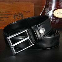 Top Cow Genuine Leather Men Belts Arrival Three Color Jeans Belt For Male