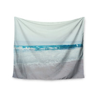 "Nastasia Cook ""Crystal Clear"" Ocean Wave Wall Tapestry"