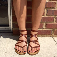 Walking In A Dream Sandals - Brown