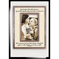 Good Sisters Share Their Dreams Copper & Glass Photo Frame