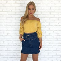 Mckenna Dark Denim Mini Skirt