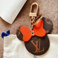 Louis Vuitton LV Women Men Cute Mickey Mouse Bag Charm And Key Holder