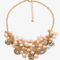 Pearlescent Bead Cluster Necklace