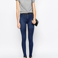 Dr Denim Solitaire High Waist Jean In Colour Block